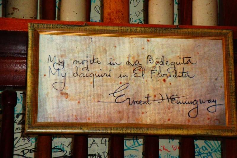 14 cuba bodequitas hemingway sign