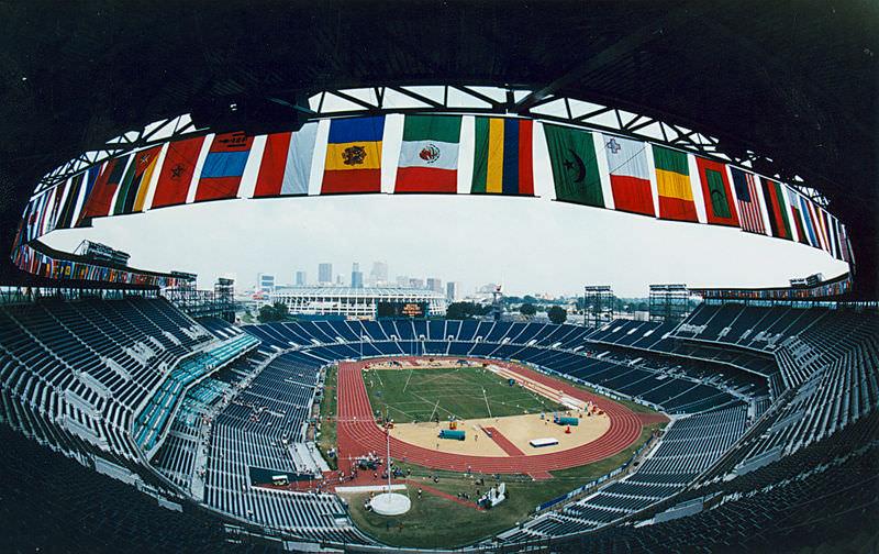 Panoramica dello stadio Olimpico durante la cerimonia di apertura
