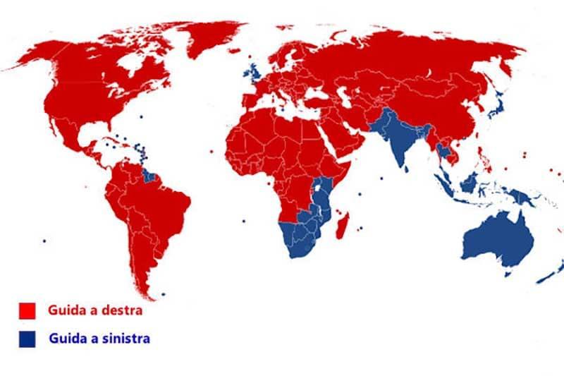 2 guida a sinistra paesi