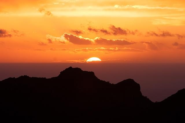 tramonto alle canarie