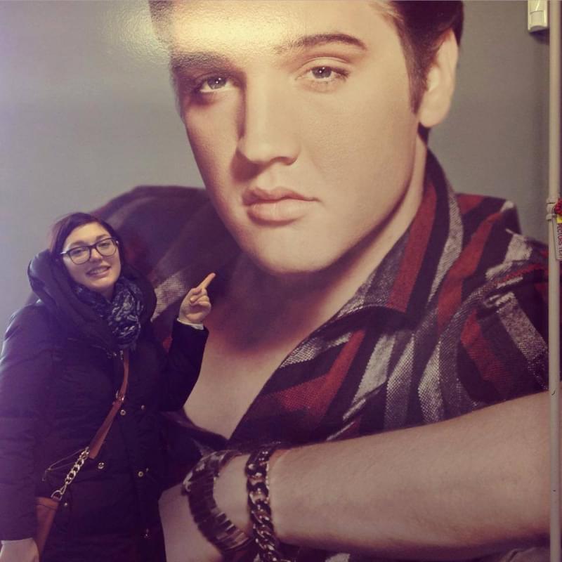 Elena in visita a Memphis