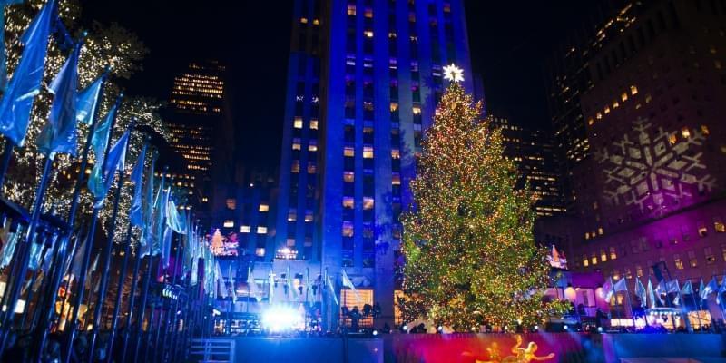 Grande albero al Rockefeller Center