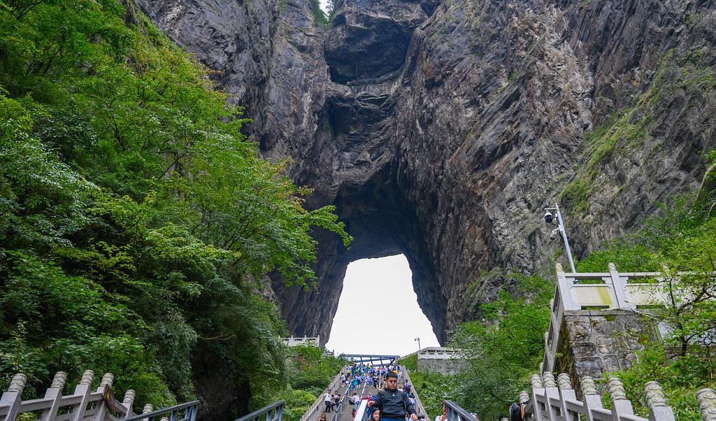 La spettacolare Porta del Paradiso del Monte Tianmen in