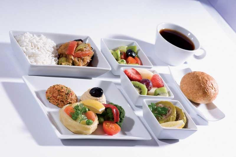 5 pasto vegetariano aereo