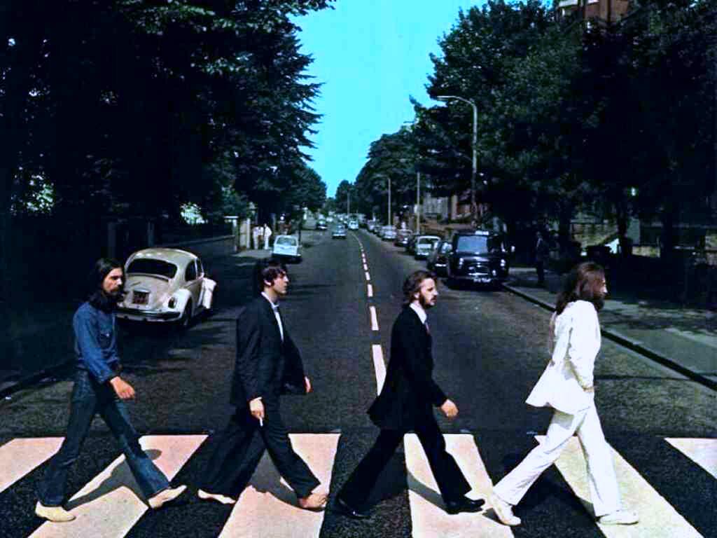 La storica copertina di Abbey Road