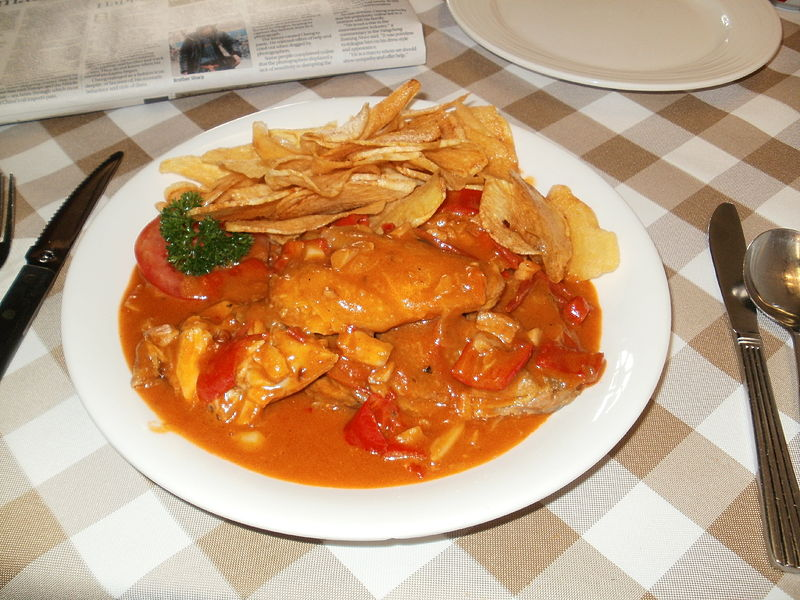 un piccante pollo all africana
