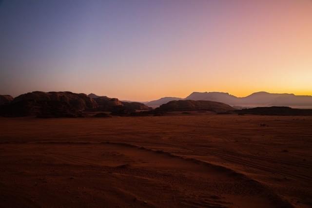 alba deserto wadi rum giordania