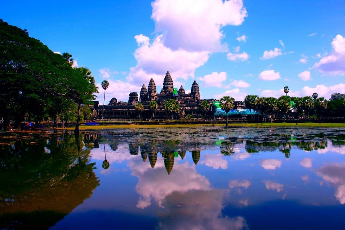 Ankor Wat Cambogia Asia Lago