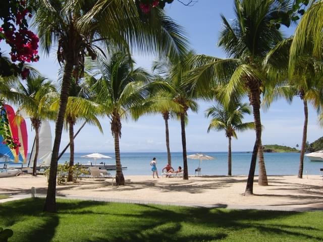 antigua baia di carlisle caraibi