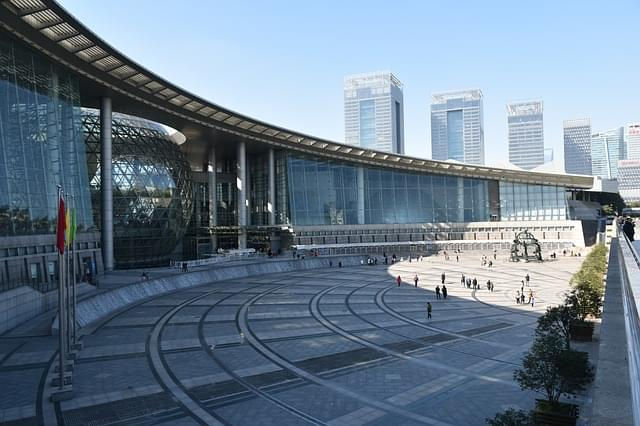 architettura del museo di shanghai