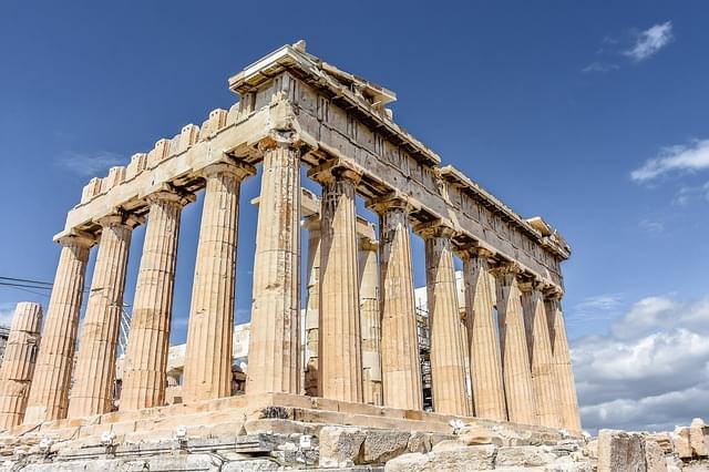 tempio nell'acropoli di atene