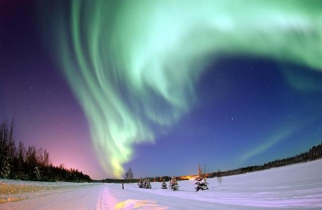aurora boreale lapponia natale
