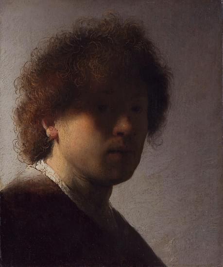 autoritratto con capelli scompigliati rijksmuseum