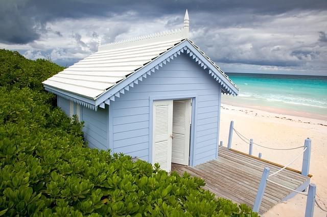 bahamas beach panorama ocean mare