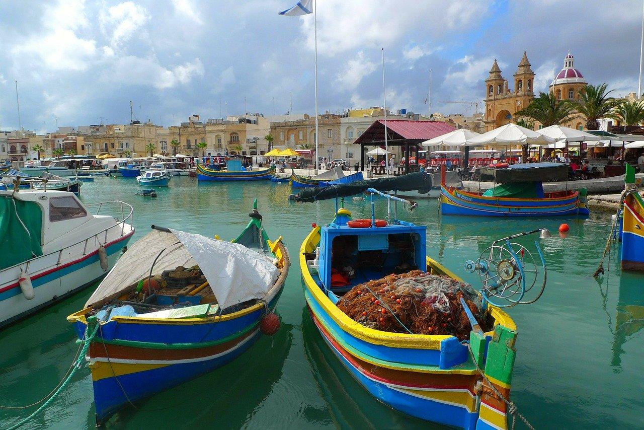panorama di Malta dal mare