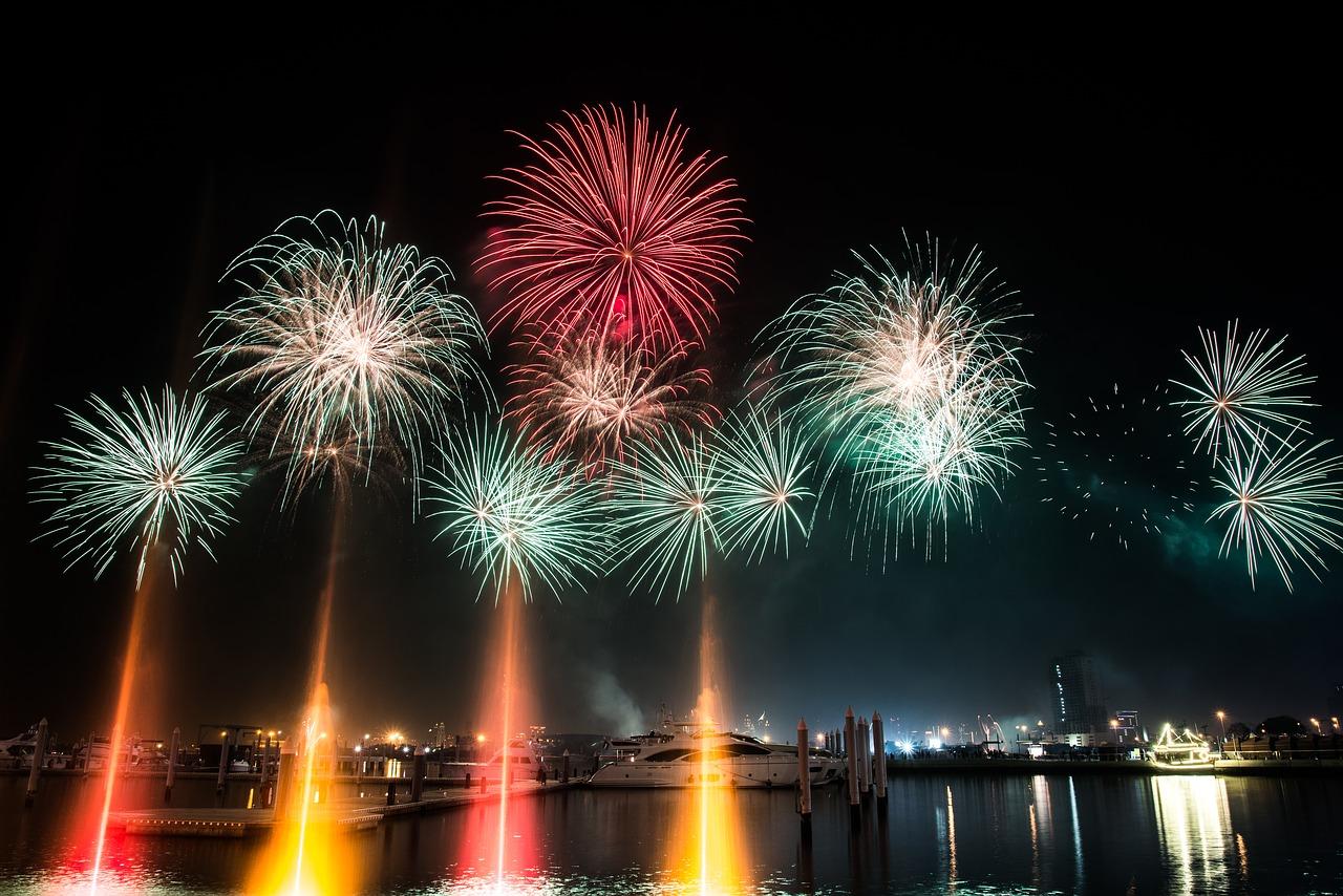 Fuochi d'artificio dubai