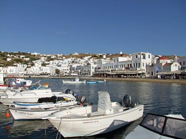 barche mykonos grecia cyclades