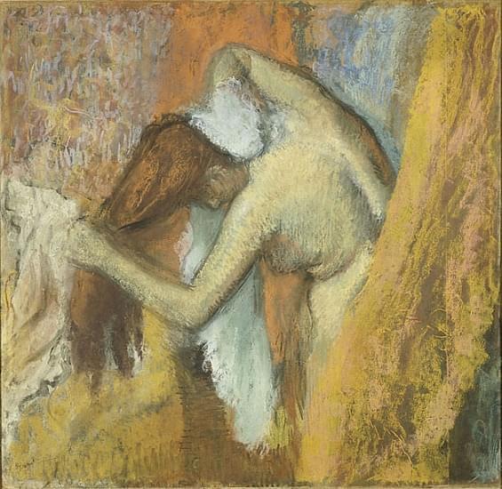 berthe morisot donna alla toilett