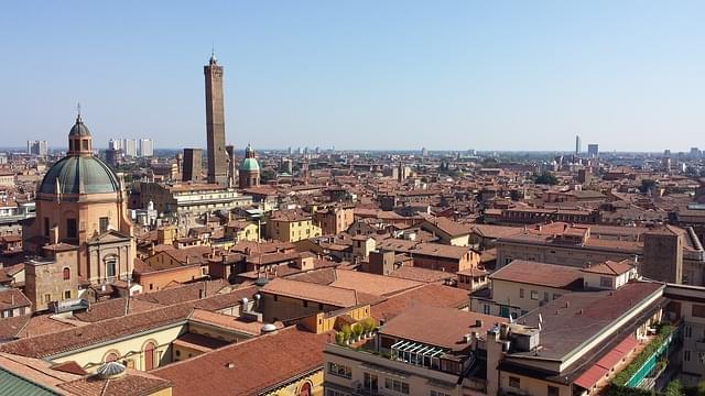 panorama dall'alto di Bologna