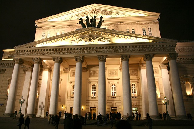 bolshoi teatro citta notte mosca