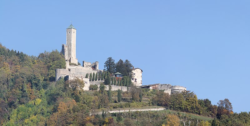 borgo valsugana castel telvana panoramic from south west