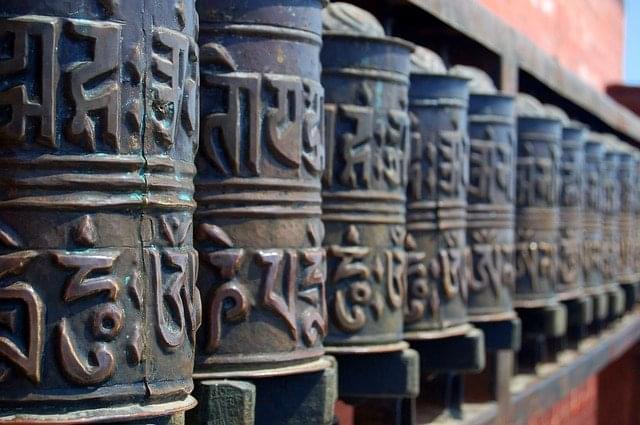 buddhismo nepal tempio religioso ruote preghiere
