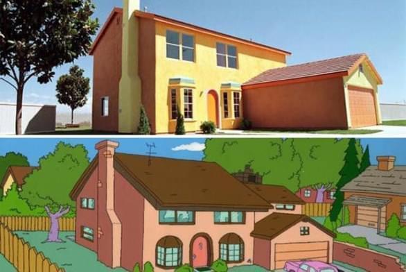 La vera casa dei Simpson