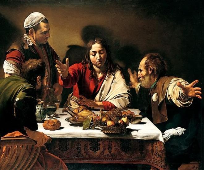 cena in emmaus caravaggio