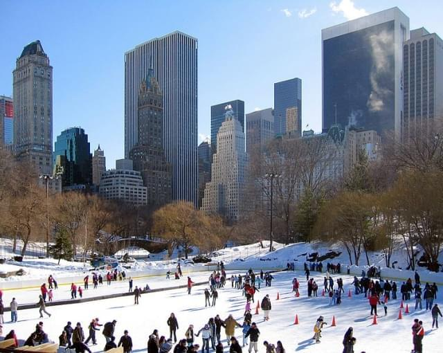 central park in inverno