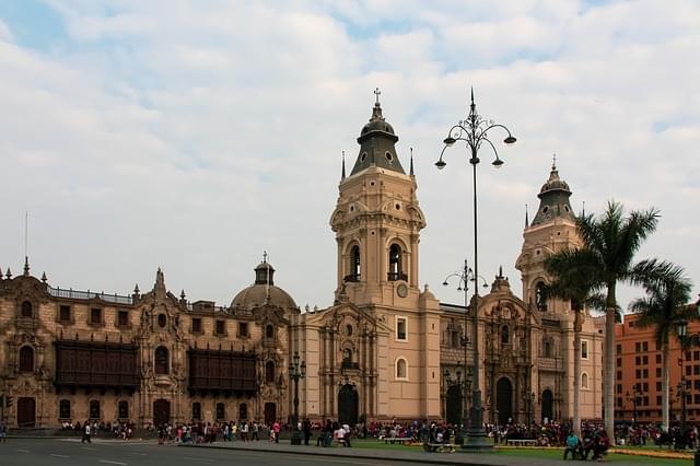 centro storico lima peru downtown