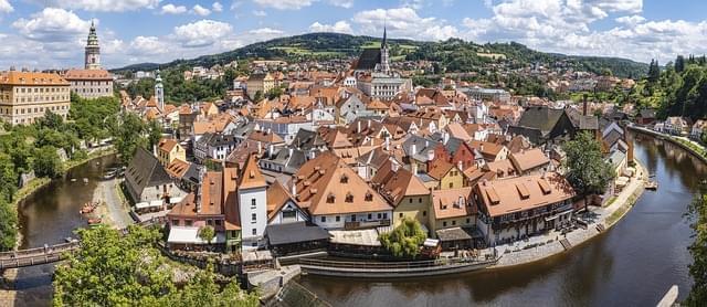 cesky krumlov panorama del centro storico