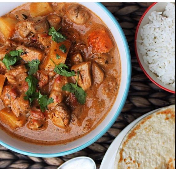 chicken tikka masala curry variante