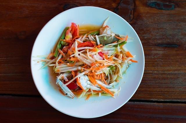 cibo tailandese piccante asiatico