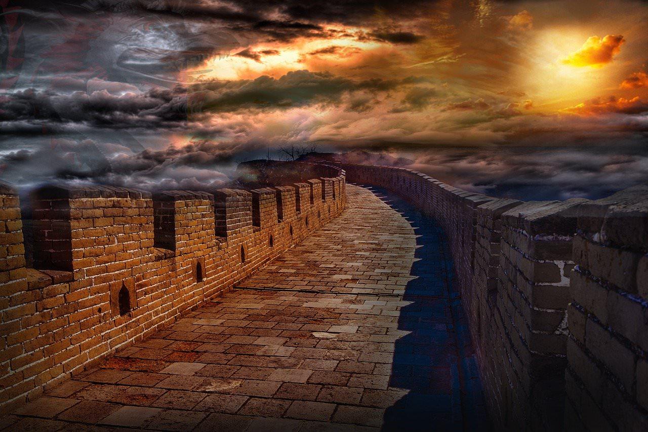 cina camminamento muraglia