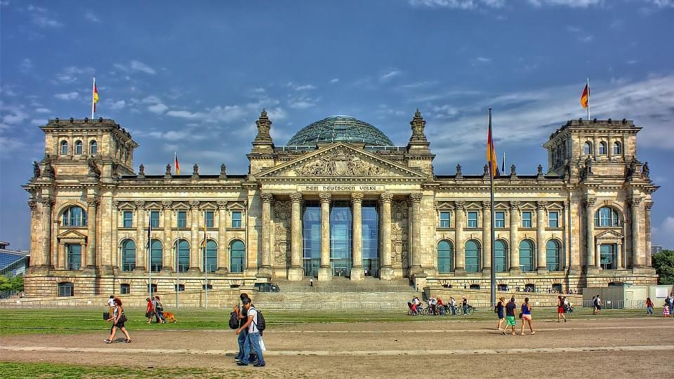 reichstag Berlino facciata