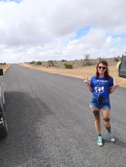 cristina alberto strada tsavo national park