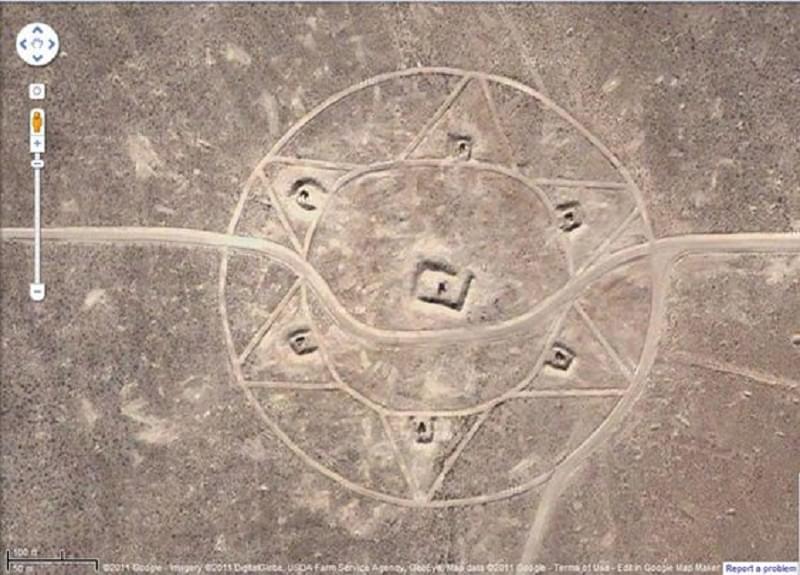 crop circle deserto