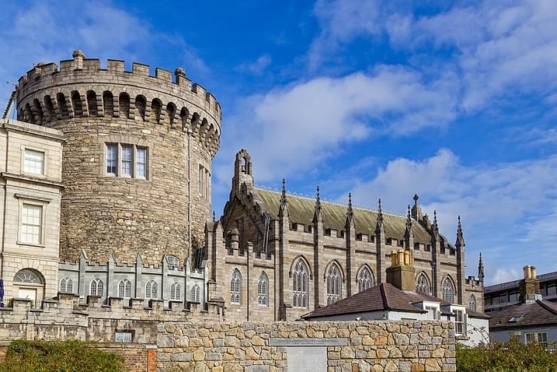dettaglio del castello di dublino