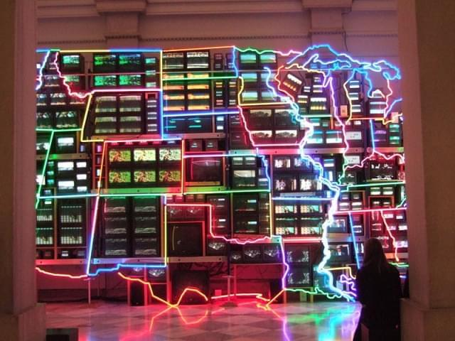 electronic superhighway by nam june paik 1