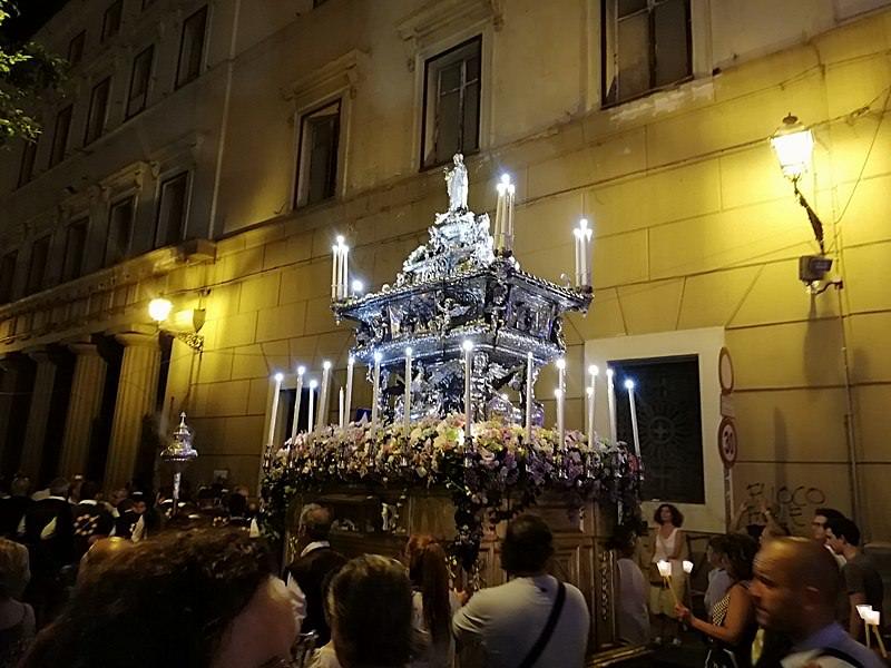 festino santa rosalia carro in processione