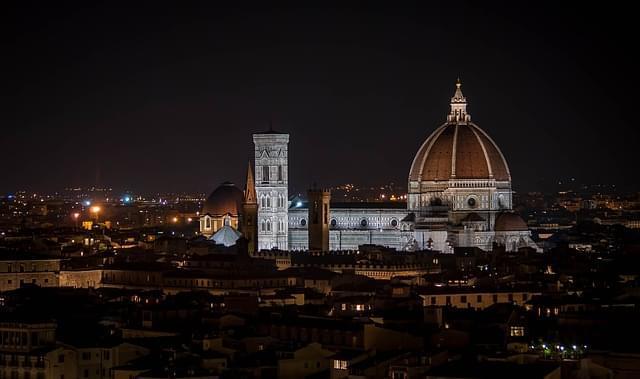 vista serale di Firenze