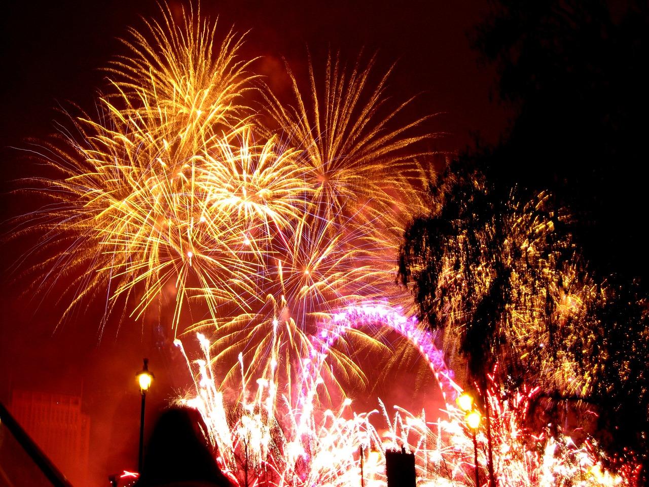 fuochi d'artificio londra