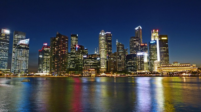 fiume di singapore skyline