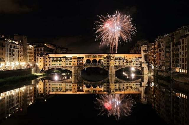 fuochi artificio su ponte vecchio