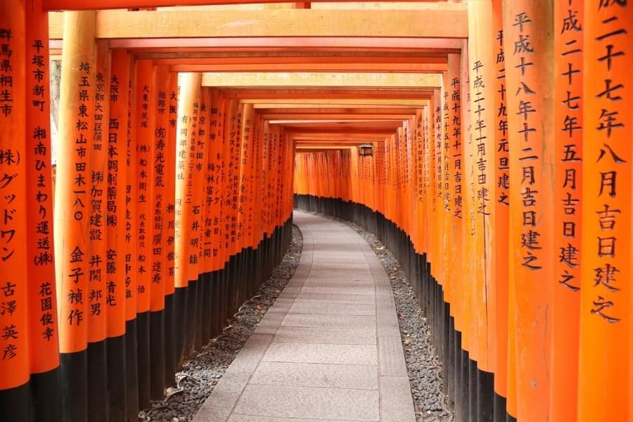 Ottavo posto fushimi inari shrine giappone