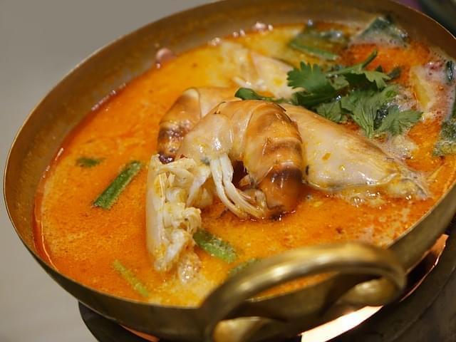 gamberi zuppa piccante cibo