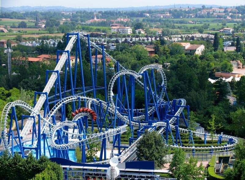 Gardaland roller coaster