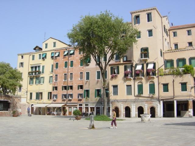 veduta dall alto del ghetto ebraico di venezia