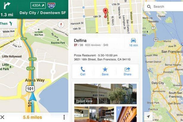 Google maps app mobile