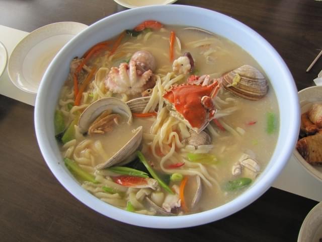 granchio gamberetti noodles